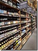 Biersorten im Regal