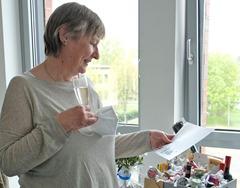 Friederike Pohlmann bei ihrer Verabschiedung