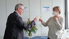 DGZfP-Geschäftsführer Dr. Matthias Purschke verabschiedet Friederike Pohlmann